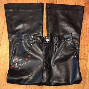 Harley Davidson Girls Faux Leather Pants.